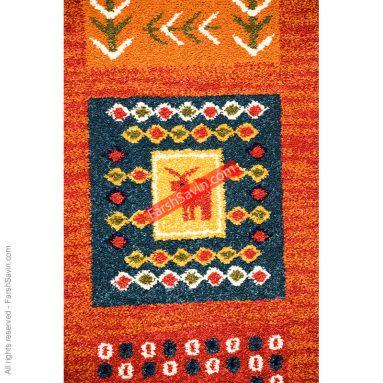 فرش عشایری گبه مهر قرمز