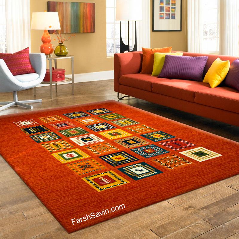 فرش ساوین مهر قرمز