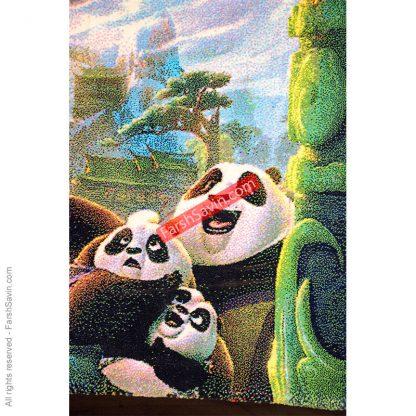 طرح 1365 کودک انیمیشنی پاندا کونگفو کار فرش ساوین