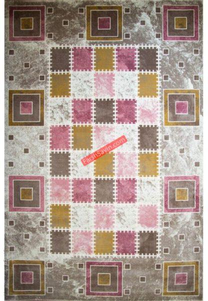 فرش ساوین 1504 صورتی