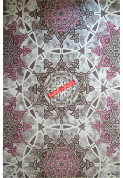 فرش ساوین 1509 صورتی