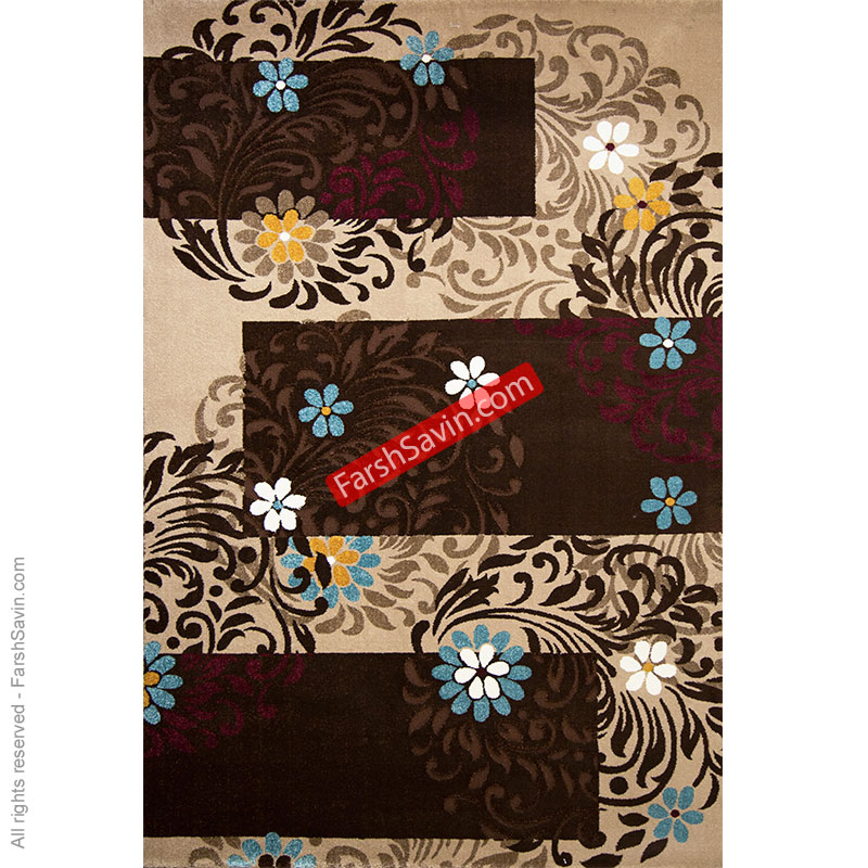 آفاق شکلاتی گلیم فرش ساوین مازندران