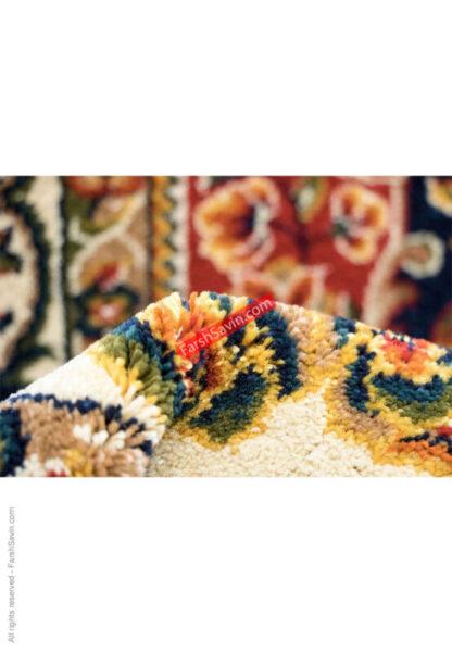 فرش ساوین افشار سرمه ای اتاق پذیرایی