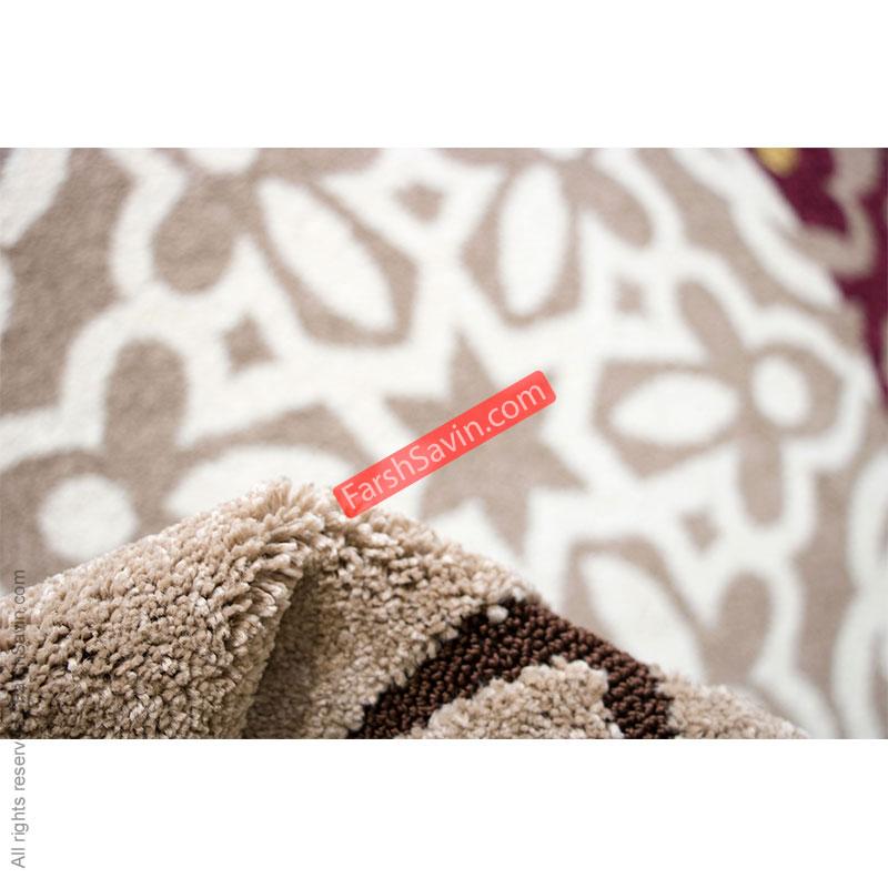 الوند شکلاتی طرح گلیم فرش ساوین مازندران