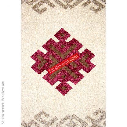 آریانا شکلاتی گلیم فرش ابریشمی فرش ساوین
