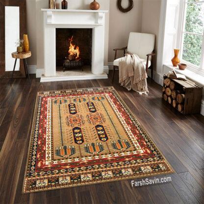 فرش ساوین بهرخ لاکی سنتی