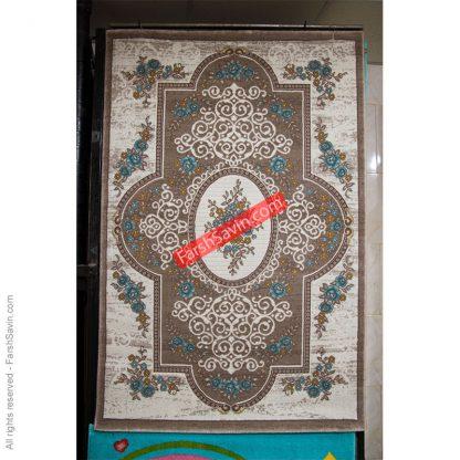 طرح 1500 آبی فانتزی فرش ساوین