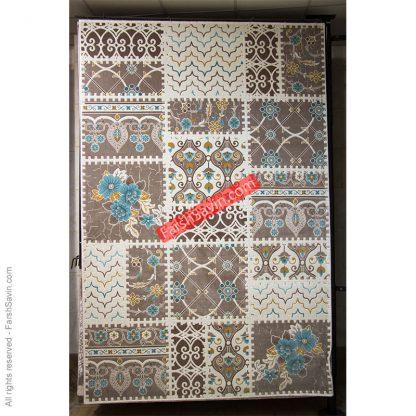 طرح 1501 آبی فرش فانتزی ساوین مازندران