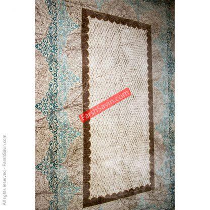طرح 1505 آبی فرش فانتزی ساوین