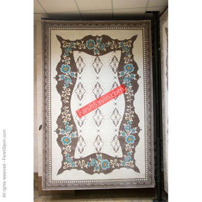 طرح 1507 آبی ریز بافت فرش ساوین مازندران