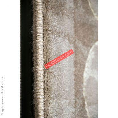 طرح 1507 آبی ابریشم گونه فرش ساوین مازندران