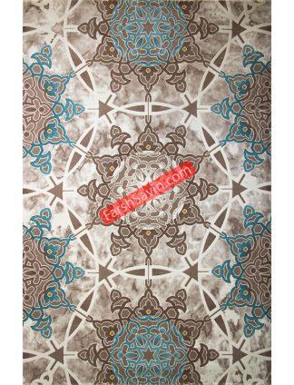 طرح 1509 آبی فانتزی فرش ساوین مازندران