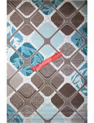 طرح 1510 آبی فانتزی ابریشم فرش ساوین