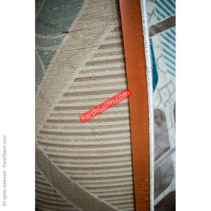 طرح 1510 آبی ابریشمی فرش ساوین