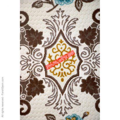 طرح آبی 1511 فانتزی ابریشمی فرش ساوین
