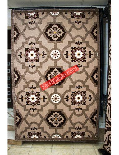 شکلاتی 2001 فرش ساوین طرح گبه ی عشایری