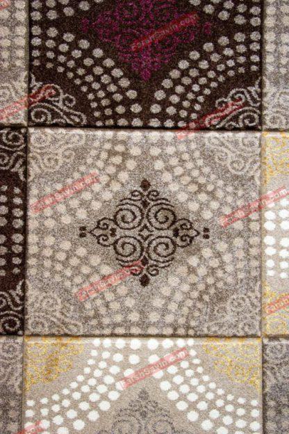 فرش ساوین گلاره شکلاتی