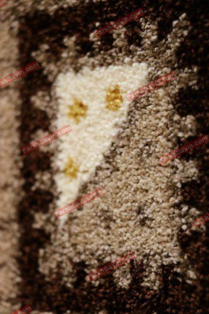 فرش ساوین هامون شکلاتی