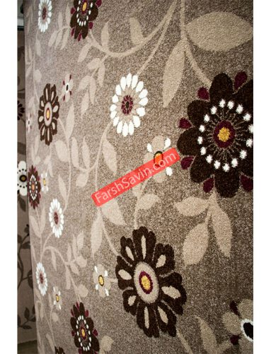 نسکافه ایی 2006 طرح فانتزی مدرن فرش ساوین ابریشمی