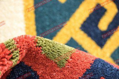 فرش ساوین پامچال سرمه ایی