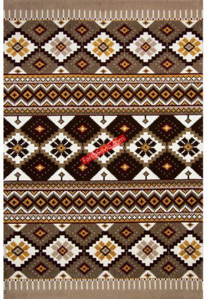 فرش ساوین پرستو شکلاتی