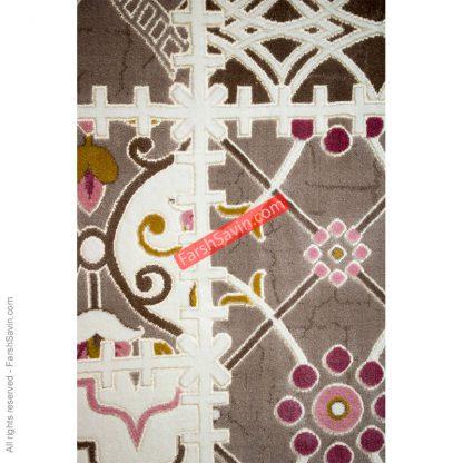 طرح 1501 صورتی فرش ساوین