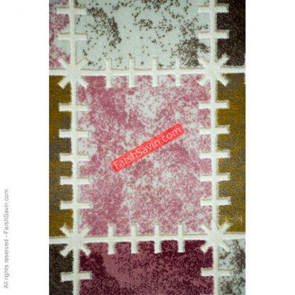 طرح 1504 صورتی دست بافت فانتزی فرش ساوین