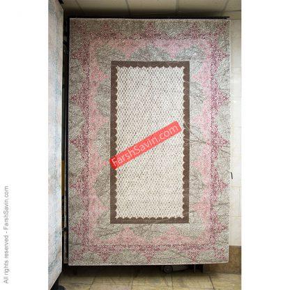 طرح 1505 صورتی فانتزی فرش ساوین مازندران