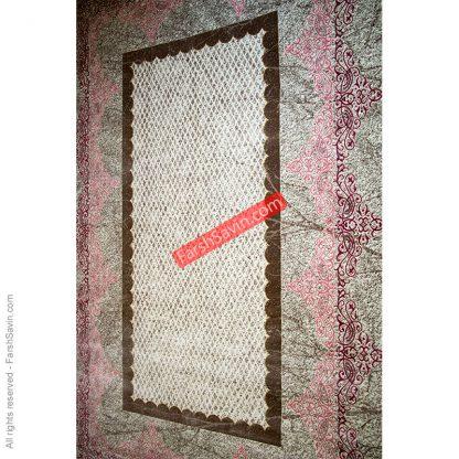 طرح 1505 صورتی فانتزی ابریشمی فرش ساوین مازندران
