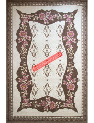 طرح 1507 صورتی فرش ساوین مازندران