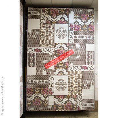 طرح 1508 صورتی دست بافت گونه فرش ساوین مازندران