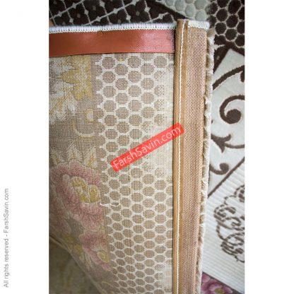 طرح 1508 صورتی فانتزی دست بافت گونه فرش ساوین مازندران