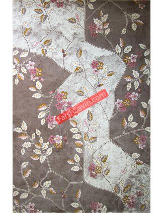 طرح 1512 صورتی ابریشمی فرش ساوین