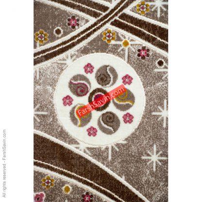 طرح 1513 صورتی دست بافت گونه فرش ساوین