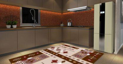 فرش ساوین پونه شکلاتی