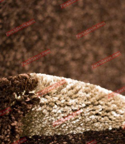 فرش ساوین پوپک شکلاتی