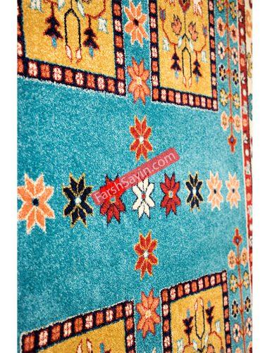 قشقایی آبی فرش ساوین