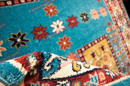 فرش ساوین قشقایی آبی
