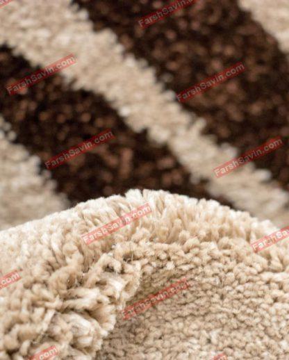 فرش ساوین رایان شکلاتی
