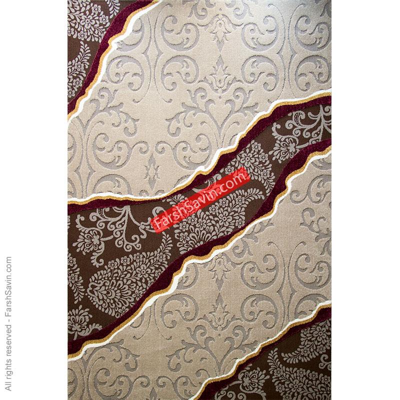 سیمین شکلاتی گلیم فرش ساوین مازندران