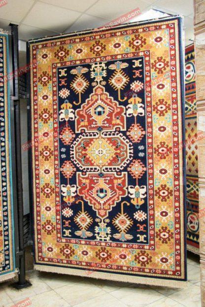 فرش ساوین طوبی سرمه ایی