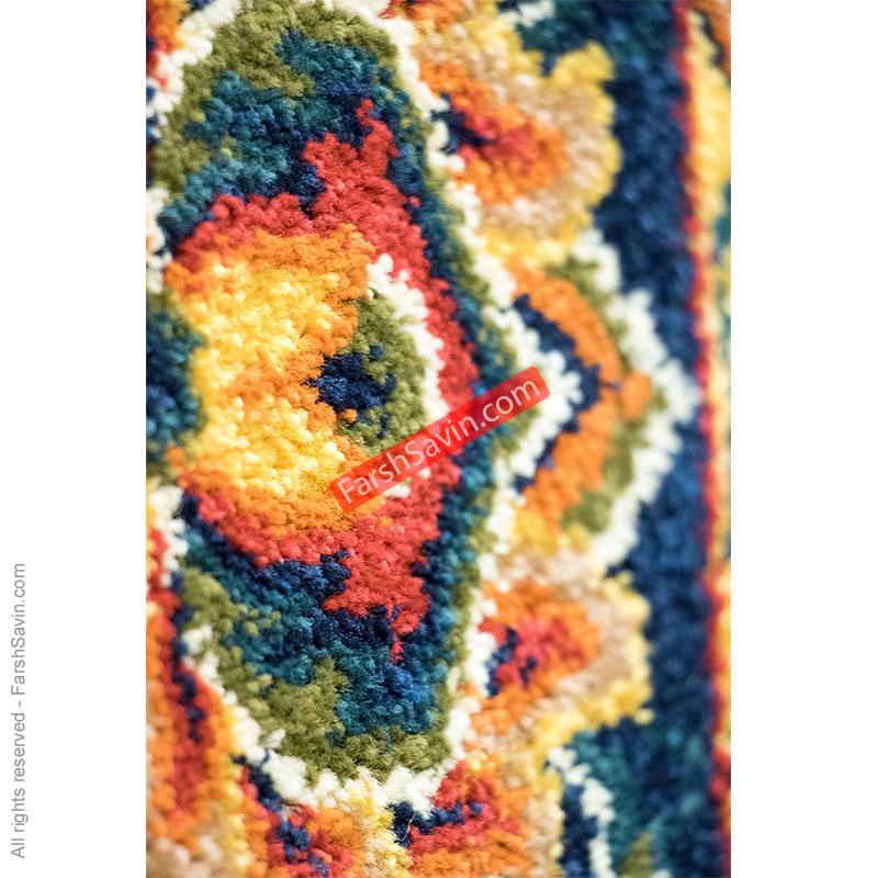 طرح ژاله زمینه لاکی فرش ساوین