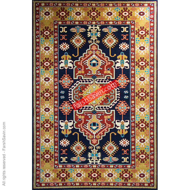 طرح طوبی سرمه ایی فرش ساوین