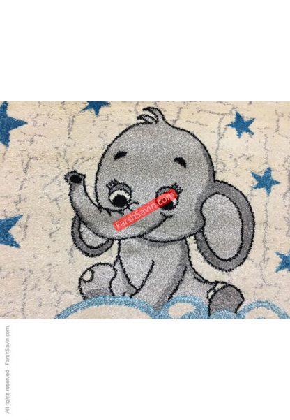 فرش ساوین فیل مهربان 4049 اتاق کودک