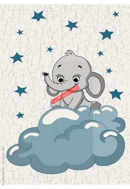 فرش ساوین فیل مهربان 4049