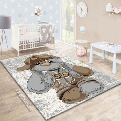 فرش ساوین خرگوش مهربان 4059 اتاق کودک