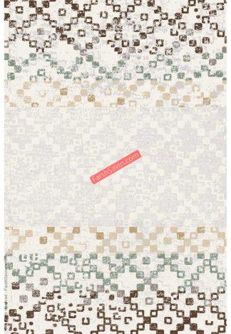 فرش ساوین 4005 کرم مدرن و فانتزی پذیرایی