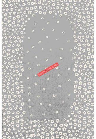 فرش ساوین 4007 نقره ایی مدرن و فانتزی پذیرایی