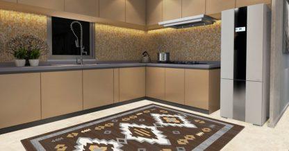 فرش ساوین 4032 نسکافه ایی مدرن و فانتزی آشپزخانه