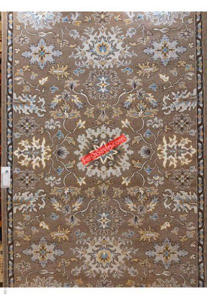 فرش ساوین 4041 شکلاتی مدرن و فانتزی